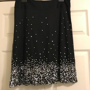 Tribal black skirt with sequins size 12